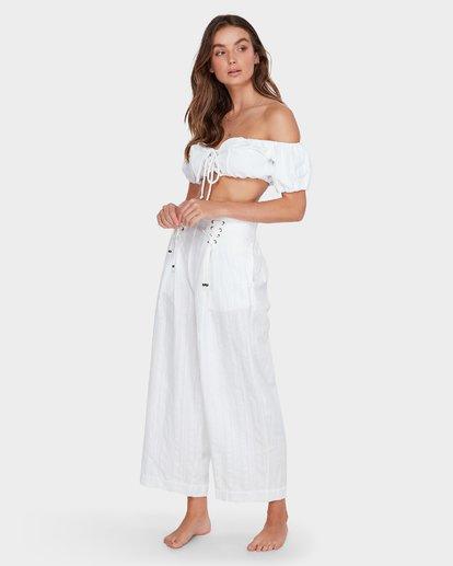 4 Luna High Waisted Pant Blanc M3PT03BIMU Billabong