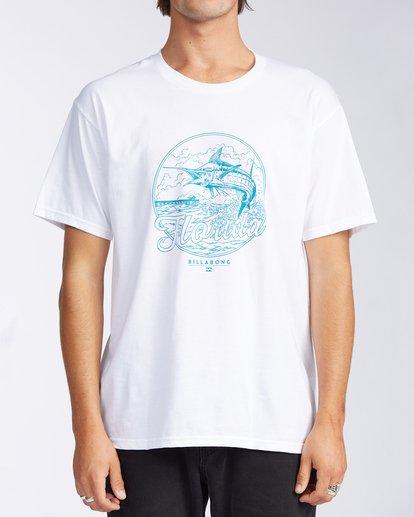0 Florida Breach Short Sleeve T-Shirt White M400GBFL Billabong