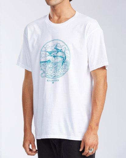 1 Florida Breach Short Sleeve T-Shirt White M400GBFL Billabong
