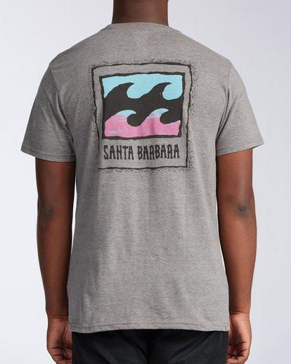 2 Santa Barbara Burleigh Wave Short Sleeve T-Shirt Green M401KBSB Billabong