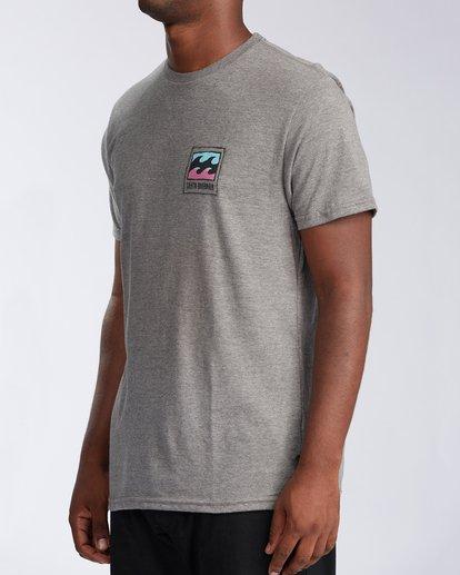 1 Santa Barbara Burleigh Wave Short Sleeve T-Shirt Green M401KBSB Billabong