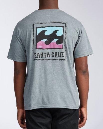 2 Santa Cruz Burleigh Wave Short Sleeve T-Shirt Green M401KBSC Billabong