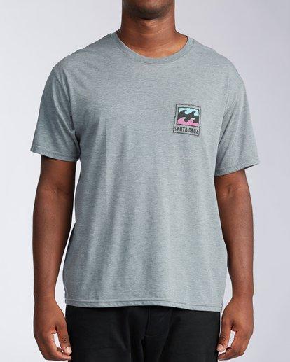 0 Santa Cruz Burleigh Wave Short Sleeve T-Shirt Green M401KBSC Billabong