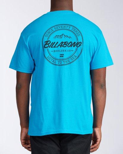 2 Boulder Colorado Coopertown Short Sleeve T-Shirt Blue M401KCCO Billabong