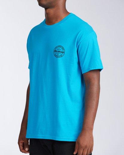 1 Boulder Colorado Coopertown Short Sleeve T-Shirt Blue M401KCCO Billabong