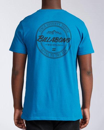 2 Whistler Coopertown Short Sleeve T-Shirt Blue M401KCCW Billabong