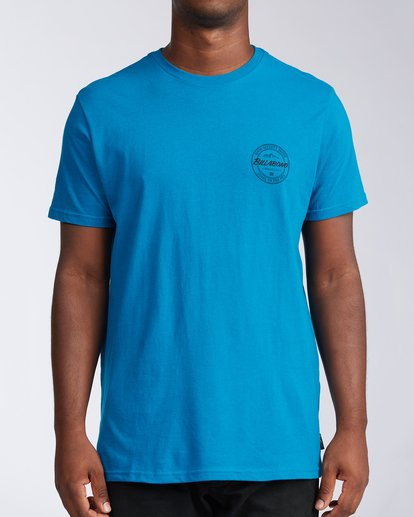 0 Whistler Coopertown Short Sleeve T-Shirt Blue M401KCCW Billabong