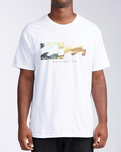 0 Boulder Colorado Inverse Short Sleeve T-Shirt White M401KICO Billabong