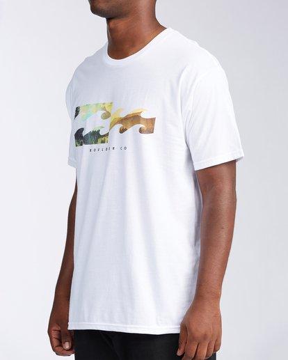 1 Boulder Colorado Inverse Short Sleeve T-Shirt White M401KICO Billabong