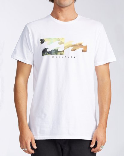 0 Whistler Inverse Short Sleeve T-Shirt White M401KICW Billabong