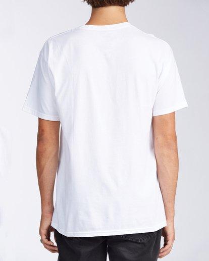 2 Santa Cruz Inverse Short Sleeve T-Shirt White M401KISC Billabong