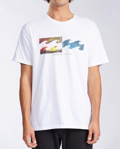 0 Santa Cruz Inverse Short Sleeve T-Shirt White M401KISC Billabong
