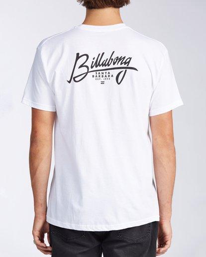 2 Santa Barbara Stamp Short Sleeve T-Shirt White M401KSSB Billabong