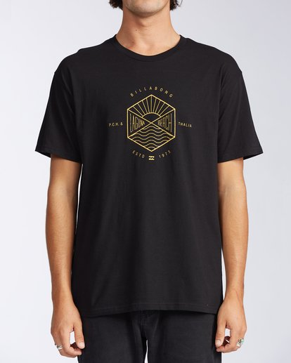 0 Access Laguna Short Sleeve T-Shirt Black M401LALB Billabong