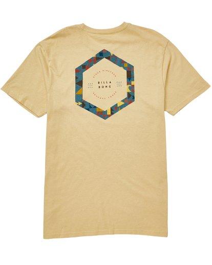 1 Access Border T-Shirt Beige M401QBAC Billabong