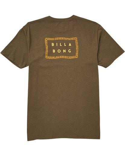 1 Die Cut Theme T-Shirt Green M401QBDT Billabong
