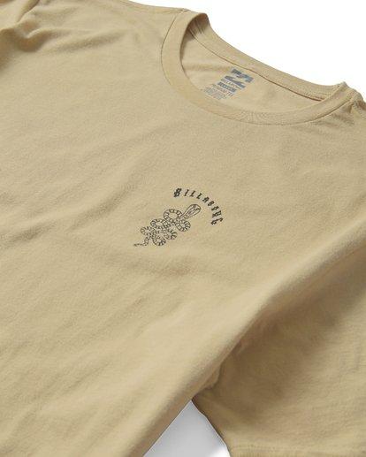 2 Cobra Short Sleeve T-Shirt Beige M401UCOR Billabong