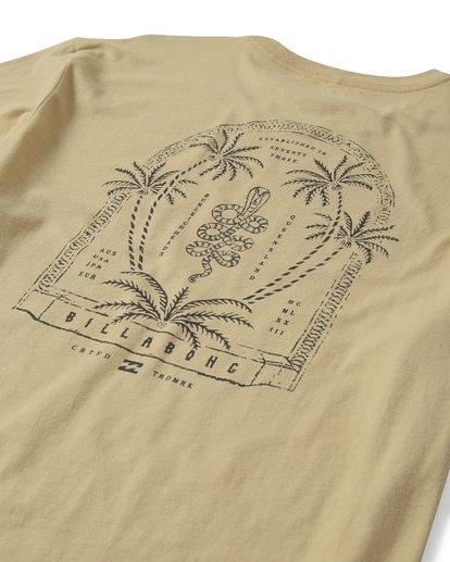 3 Cobra Short Sleeve T-Shirt Beige M401UCOR Billabong