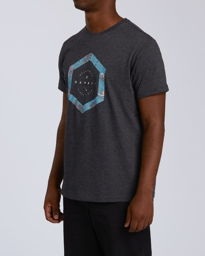 1 Access Hawaii Short Sleeve T-Shirt Black M401VBAC Billabong
