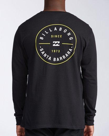 2 Santa Barbara Rotor Long Sleeve T-Shirt Black M402KRSB Billabong