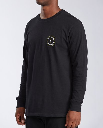 1 Santa Barbara Rotor Long Sleeve T-Shirt Black M402KRSB Billabong