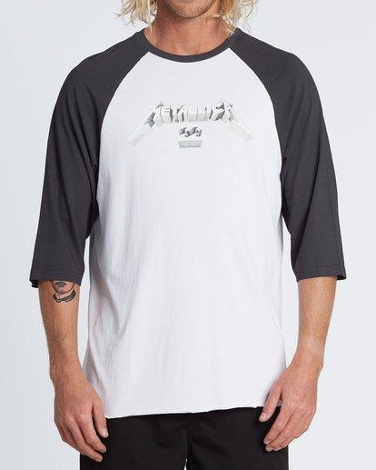 0 Master Of Puppets Baseball T-Shirt  M4031BMP Billabong