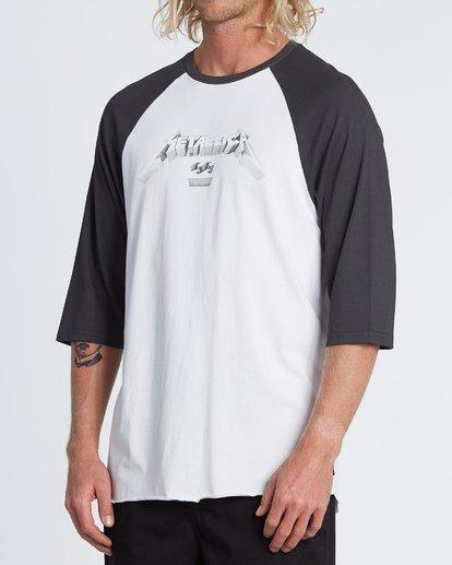 1 Master Of Puppets Baseball T-Shirt  M4031BMP Billabong