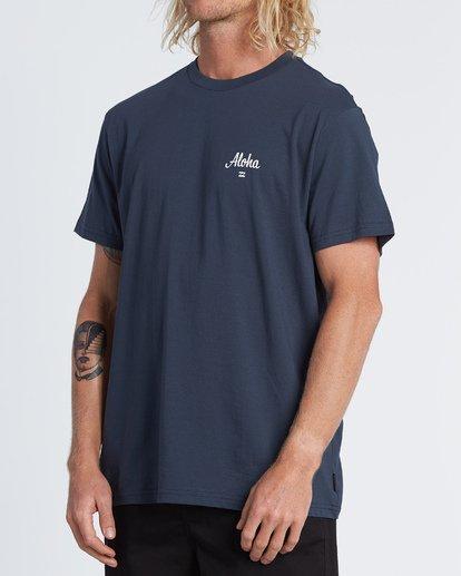 1 Aloha Short Sleeve T-Shirt Blue M4041BAL Billabong