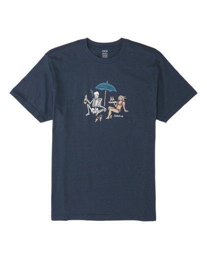 3 Apocalypse Short Sleeve T-Shirt Blue M4041BAP Billabong