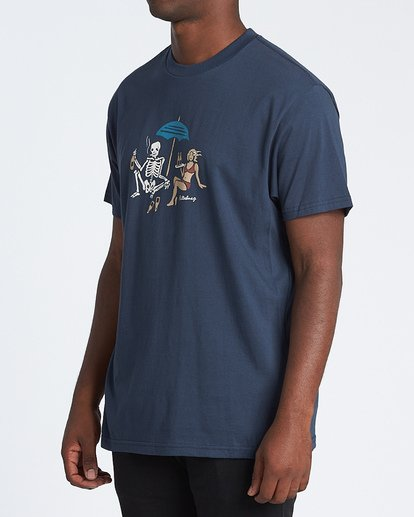 1 Apocalypse Short Sleeve T-Shirt Blue M4041BAP Billabong