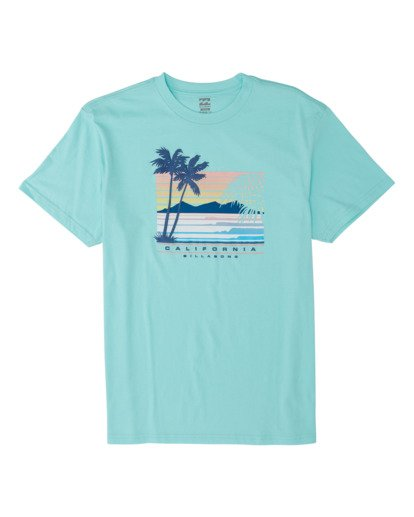 3 Cali Coastline Short Sleeve T-Shirt Grey M4041BCC Billabong
