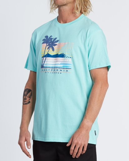 1 Cali Coastline Short Sleeve T-Shirt Grey M4041BCC Billabong