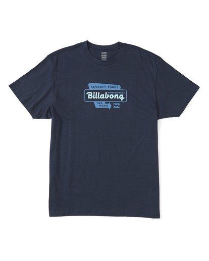 0 Driveway Short Sleeve T-Shirt Blue M4041BDR Billabong