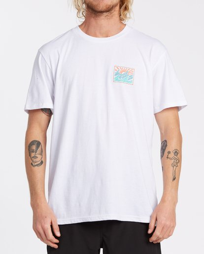 0 EC-Dawner Short Sleeve T-Shirt White M4041BED Billabong
