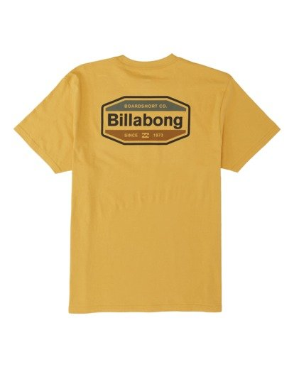 4 Gold Coast Short Sleeve T-Shirt Yellow M4041BGC Billabong