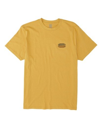 3 Gold Coast Short Sleeve T-Shirt Yellow M4041BGC Billabong