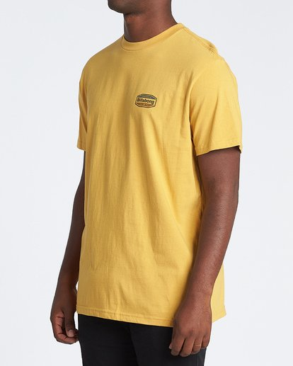 1 Gold Coast Short Sleeve T-Shirt Yellow M4041BGC Billabong