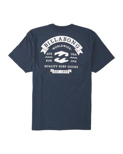4 Locked Short Sleeve T-Shirt Blue M4041BLO Billabong