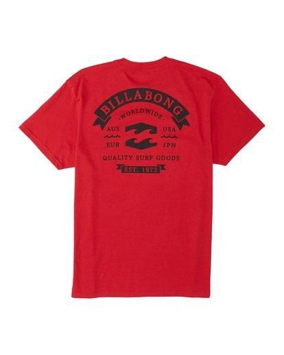 4 Locked Short Sleeve T-Shirt Red M4041BLO Billabong