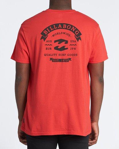 2 Locked Short Sleeve T-Shirt Red M4041BLO Billabong