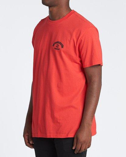 1 Locked Short Sleeve T-Shirt Red M4041BLO Billabong