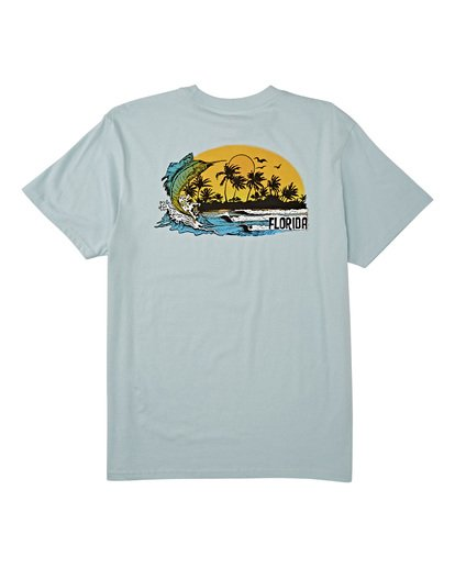 4 Marlin Short Sleeve T-Shirt Blue M4041BMA Billabong