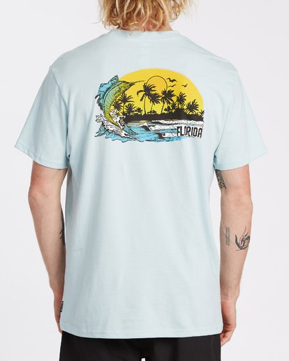 2 Marlin Short Sleeve T-Shirt Blue M4041BMA Billabong
