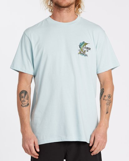 0 Marlin Short Sleeve T-Shirt Blue M4041BMA Billabong