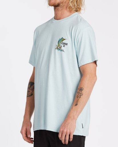 1 Marlin Short Sleeve T-Shirt Blue M4041BMA Billabong