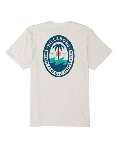 4 Palmer Short Sleeve T-Shirt White M4041BPA Billabong
