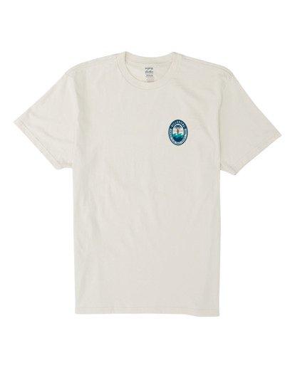 3 Palmer Short Sleeve T-Shirt White M4041BPA Billabong