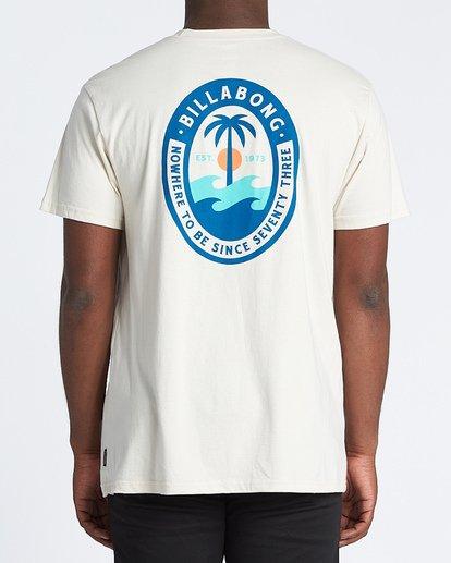 2 Palmer Short Sleeve T-Shirt White M4041BPA Billabong