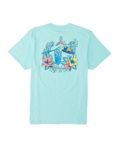 4 Parrot Bay Short Sleeve T-Shirt Grey M4041BPB Billabong