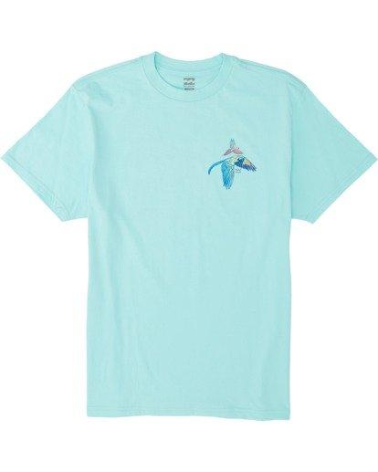 3 Parrot Bay Short Sleeve T-Shirt Grey M4041BPB Billabong